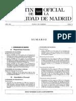 Boletín Oficial de la Comunidad de Madrid