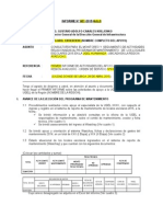 Modelo de Informe para mantenimientos de locales escolares.