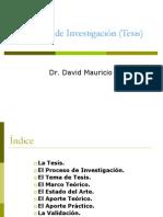 El Proceso de Investigación Tesis