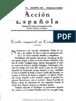 Acción Española (Madrid). 8-1935, n.º 78 Arte y Estado Giménez Caballero