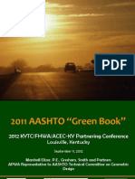 The 2011 AASHTO Green Book