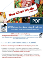 RDD Learning Academy - New Client Setup