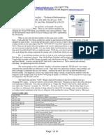 DC250 Tech Info Sheets
