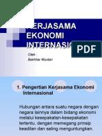 Kuliah 4-5 Kerjasama Ekonomi