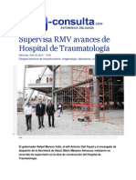29-04-2015 E-consulta.com - Supervisa RMV Avances de Hospital de Traumatología
