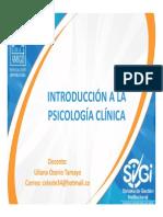 Clase No 2 Introducción a La Psicología Clínica