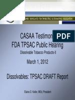 OPH Keller CASAA-2012-Dissolvables TPSAC Report