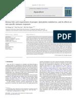 Aquaculture Volume 317 issue 1-4 2011 [doi 10.1016_j.aquaculture.2011.04.010] Yu-Hung Lin; Hui-You Lin; Shi-Yen Shiau -- Dietary folic acid requirement of grouper, Epinephelus malabaricus, and its e.pdf