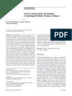 Environmental Earth Sciences Volume 72 issue 1 2014 [doi 10.1007_s12665-013-2975-x] Rajeshkumar, Sivakumar; Sukumar, Samuvel; Munuswamy, Natesan -- Biomarkers of selected heavy metal toxicity and hi.pdf