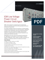 Low Voltage Power Circuit Breaker Switchgear