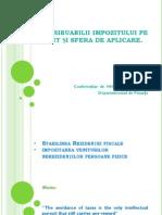 C2. Contribuabili, Sfera de Aplicare, Impozitarea Nerezidentilor