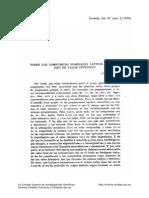 Sobre los compuestos nominales latinos con prefijo de valor intensivo. (Conclusión.)