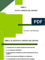 Tema 2. El Estatuto Jurídico Del Estado...