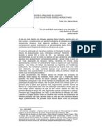 Entre a Oralidade e a Escrita Um Estudo Dos Folhetos de Cordel Nordestinos