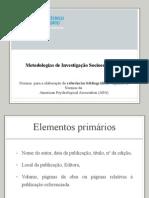 Regras Bibliograficas - ESE-IPP UTC CE Fevereiro 2012
