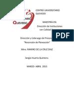 """actividad V Direccion  Proceso y Liderazgo """"Resencio de PLanaecion"""""""