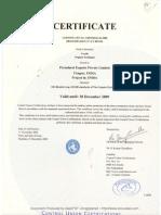 Zertifikat_OE 100 Standard