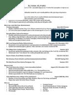 Alfaro Resume 2015