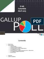 Encuesta Opinión Publica Gallup - ABRIL DE 2015