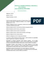 Oferta Estudios Artisticos Literarios Proximo Curso