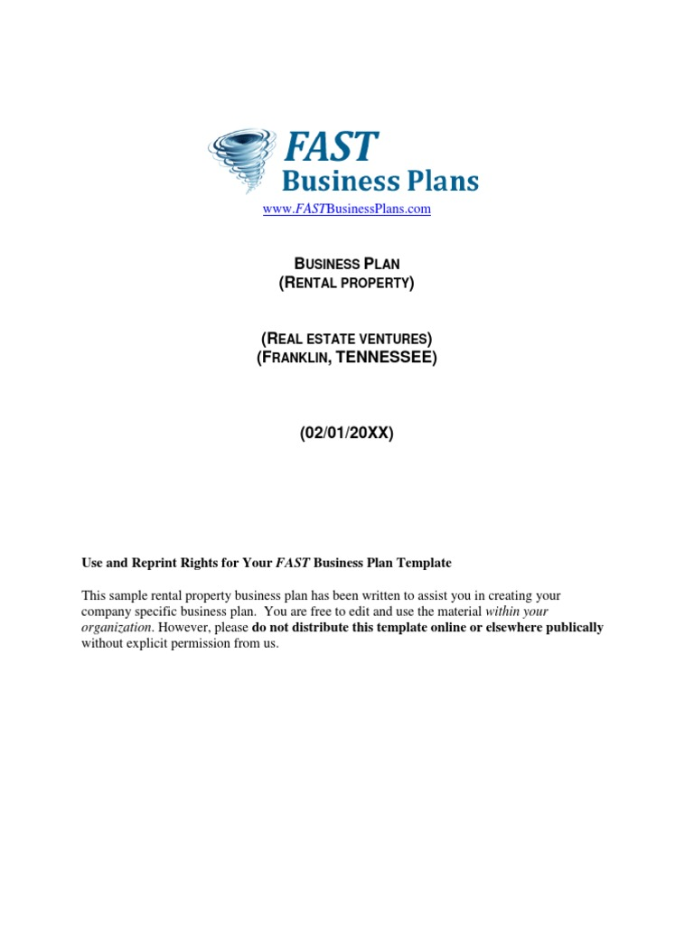 Rental property business plan renting leasehold estate saigontimesfo