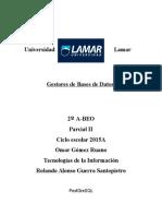 Gestores de Bases de Datos Por Rolando Guerra