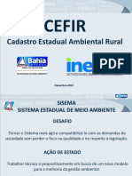 Apresentação Cadastro Estadual Ambiental Rural - SEMA BA