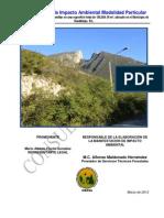 MIA modalidad particular Desarrollo Habitacional Unifamiliar en Polígono 5-B