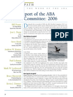 ABA Checklist Committee report, 2006