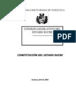Constitucion Del Estado Sucre