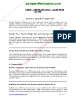 Current Affairs Feb 2015 Datewise