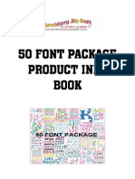 50 font product info book