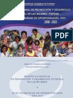 Politica Promoción y Desarrollo Mujeres 2008-2023
