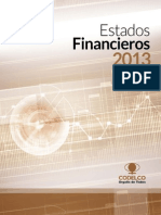 Estados Financieros Codelco 2013