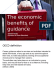 The Economic Benefits of Guidance