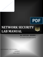 Network Security Lab Manual