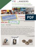 nieuwsbrief april 2015