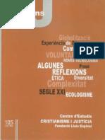 CJ 105, Algunas Reflexiones Del Curso 1990-00 - Cristianisme i Justicia Con