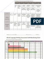 student work communication presentational mode (writing) assessments tracker