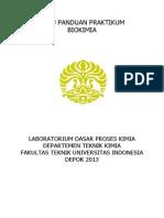 Buku Panduan Praktikum Biokimia 2013-1