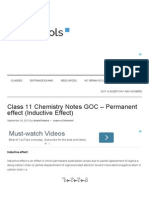 Class 11 Chemistry Notes GOC - Permanent Effect (Inductive Effect)