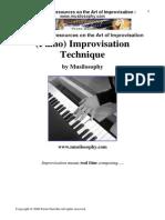 (Piano) Improvisation Technique BUENA