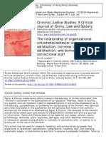 Criminal Justice Studies a Critical