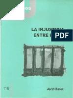 CJ 116, La Injusticia Entre Rejas - Jordi Balot