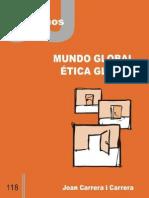 CJ 118, Mundo Global, Etica Global - Joan Carrera i Carrera
