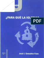 CJ 121, ¿Para Qué La Iglesia? - José Ignacio González Faus, SJ