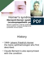 Horner's Syndrome Final