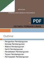 Pbm Definisi Pembangunan