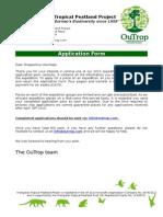 Volunteer Application Form 2015