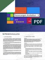 Studio Perancangan - Desain Hotel Bintang 4